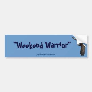 Bald Eagle Weekend Warrior Bumper Sticker