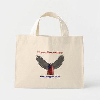 Bald Eagle, Where Size Matters!, reducegov.com Tote Bag