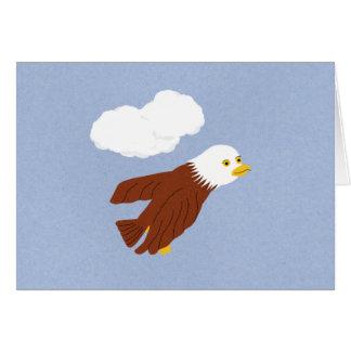 Bald Eagle Whimsical Cartoon Art Greeting Card