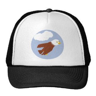 Bald Eagle Whimsical Cartoon Art Trucker Hat