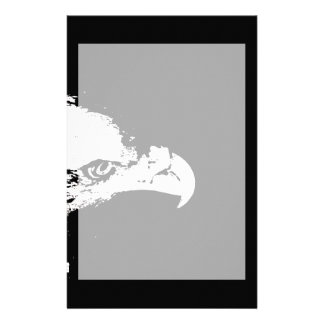bald eagle white graphical facing right black back stationery