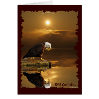 Bald Eagle Wildlife Birdlover Gift Greeting Card