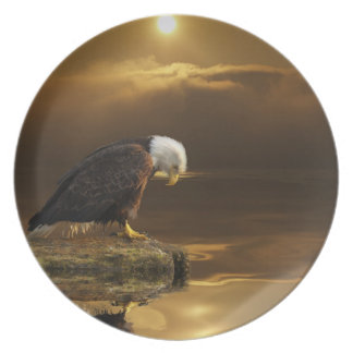 Bald Eagle Wildlife Inspirational Gratitude Plate
