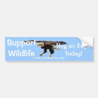BALD EAGLE Wildlife Supporter Funny Bumper Sticker