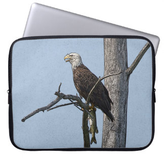 Bald Eagle with a fish Laptop Sleeve