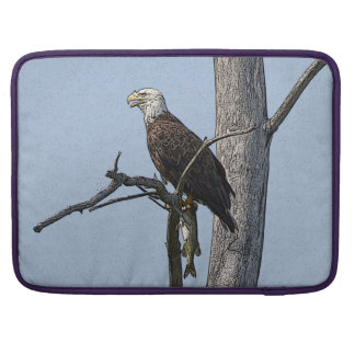 Bald Eagle with a fish Sleeve For MacBook Pro