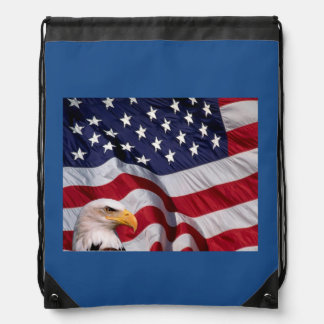 Bald Eagle with American Flag Backpacks