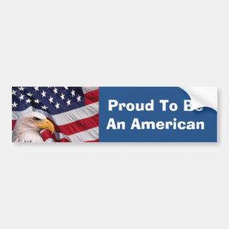 Bald Eagle with American Flag Bumper Sticker