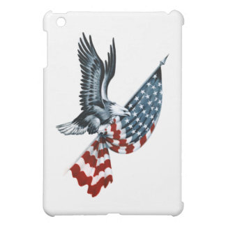 Bald Eagle with American Flag Cover For The iPad Mini