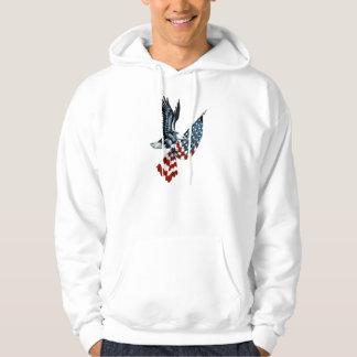 Bald Eagle with American Flag Sweatshirt