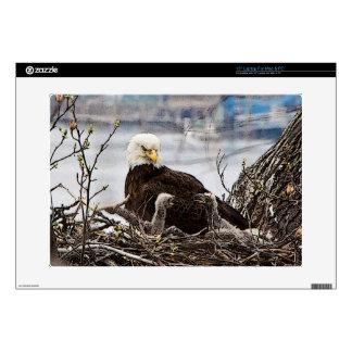"""Bald Eagle with eaglets Skin For 15"""" Laptop"""