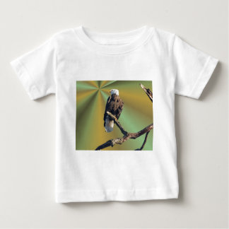 Bald Eagle with earth rays Baby T-Shirt