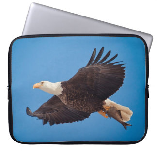 Bald Eagle With Fish Laptop Sleeve