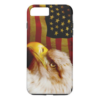 Bald eagle with flag iPhone 8 plus/7 plus case