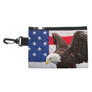 Bald Eagle with the American Flag Accessory Bag