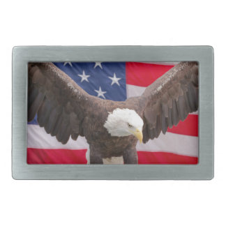 Bald Eagle with the American Flag Belt Buckle