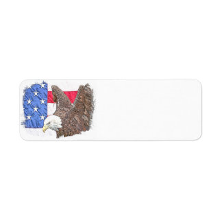 Bald Eagle with the American Flag Return Address Labels
