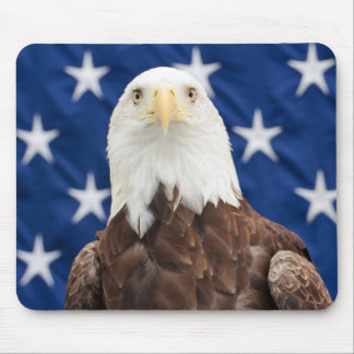 Bald Eagle with the Stars Mouse Pad