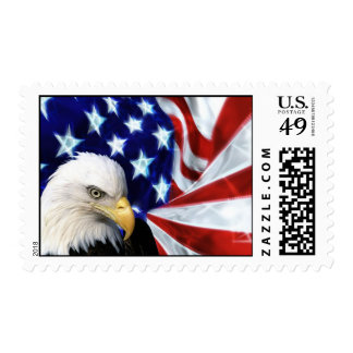 Bald Eagle with US Flag Postage