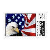 Bald Eagle with US Flag Postage