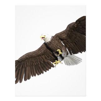 Bald Eagle with wings on down stroke Letterhead