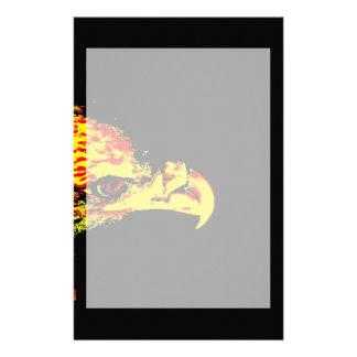 bald eagle yellow graphic black back stationery
