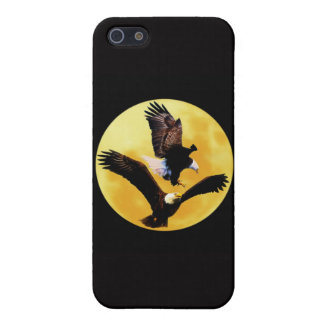 Bald eagles and full moon cover for iPhone SE/5/5s