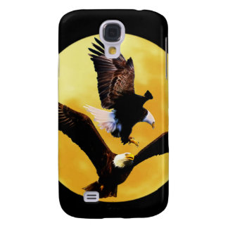 Bald eagles and full moon galaxy s4 case