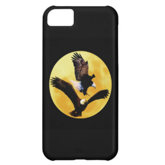 Bald eagles and full moon iPhone 5C cover