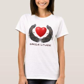 Bald Eagles & Heart Eagle Lover Ladies Top