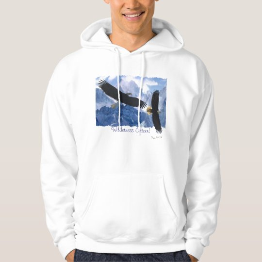 BALD EAGLES &  MOUNTAINS Wilderness Citizen Hoodie