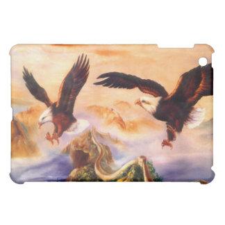 Bald Eagles over Great Wall of China iPad Mini Cover