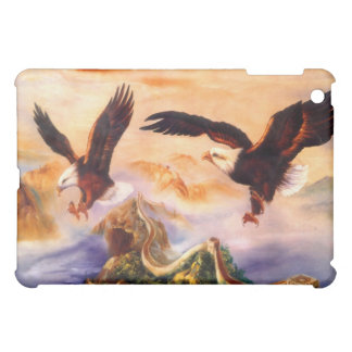 Bald Eagles over the Great Wall of China iPad Mini Case