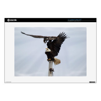 "Bald Eagles Wildlife Electronic Skins Decals For 15"" Laptops"
