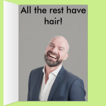 Bald Father's Day Card