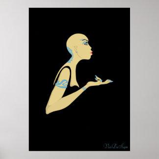 bald girl poster