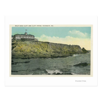 Bald Head Cliff and Exterior of Cliff House # Postcard