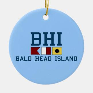 Bald Head Island. Double-Sided Ceramic Round Christmas Ornament
