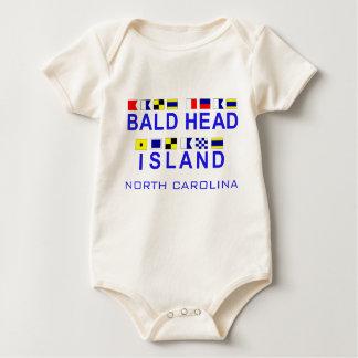 Bald Head Island NC w/Maritime Spelling Baby Bodysuit