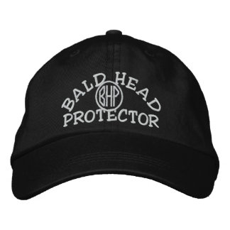 Bald Head Protector Embroidered Hat