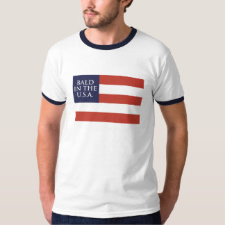 BALD IN THE U.S.A (FLAG) T-Shirt