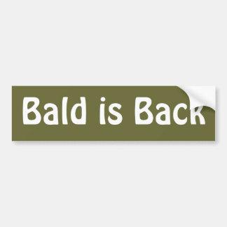 Bald is Back Car Bumper Sticker