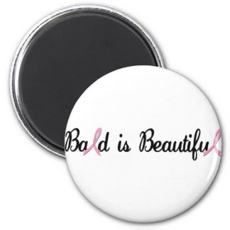 BALD IS BEAUTIFUL 2 INCH ROUND MAGNET