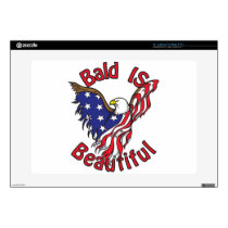"Bald is Beautiful - style4 15"" Laptop Skin"