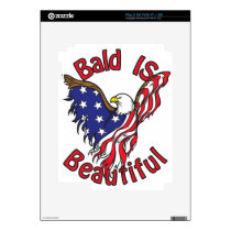 Bald is Beautiful - style4 iPad 2 Decal
