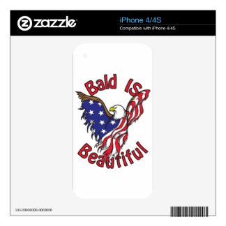 Bald is Beautiful - style4 iPhone 4 Decals