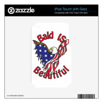 Bald is Beautiful - style4 iPod Touch 4G Skin