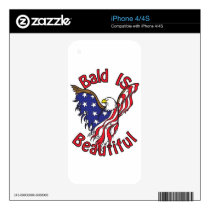 Bald is Beautiful - style4 Skin For iPhone 4S