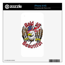 Bald is Beautiful - style5 Decal For iPhone 4