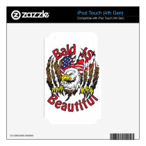 Bald is Beautiful - style5 iPod Touch 4G Decal